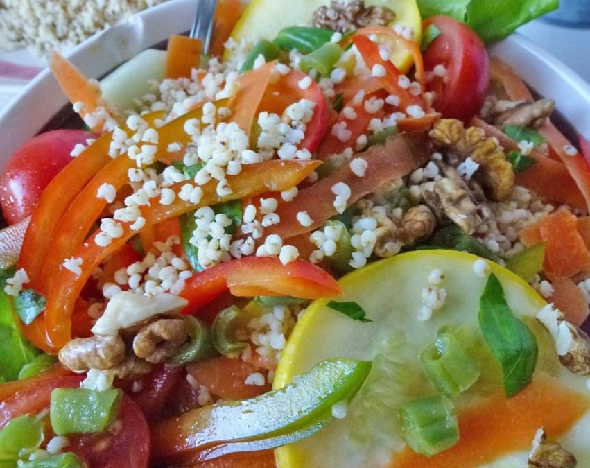 Salade de légumes au millet torréfié  ( Végan, sans gluten)