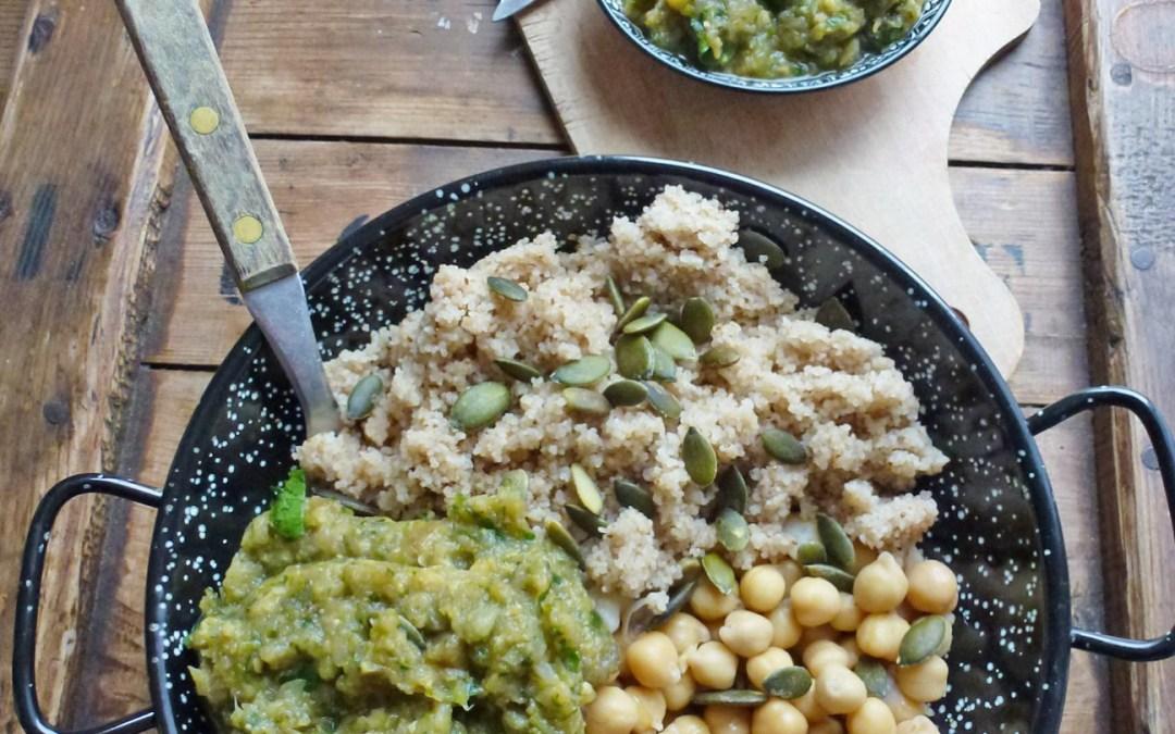 Compotée ou tartinade de courgettes au fenouil et pois chiche  ( Vegan, sans gluten )