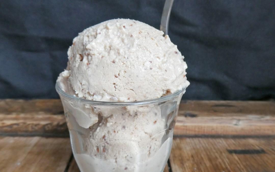 Crème glacée aux noix de cajou et cranberries   ( Vegan, sans céréales, sans sorbetière )