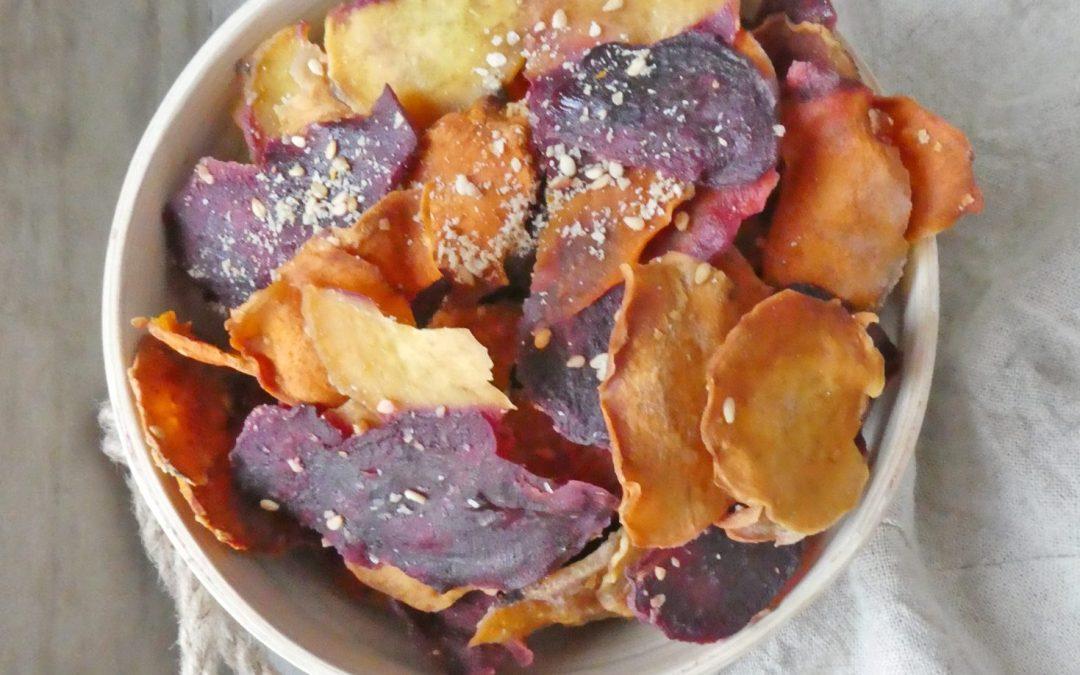 Chips de patates douces au four (très faible teneur en matières grasses )
