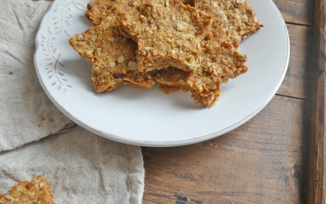 Biscuits croquants à la farine de riz et flocons d'avoine  ( Vegan )