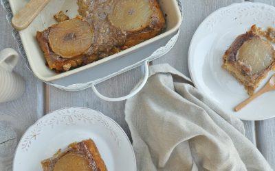 Gâteau pommes, poires, noisettes ( Sans gluten, vegan )