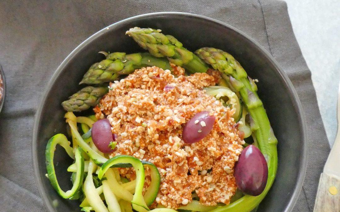 Ma bolognaise végétale …à base de tofu ferme nature  ( Vegan, sans céréales, léger )