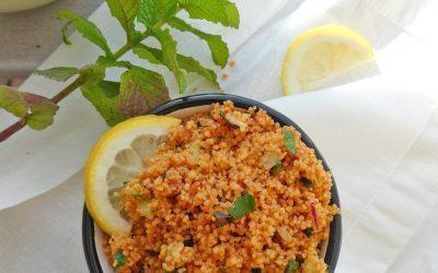 Taboulé Turc à la semoule de riz et de maïs  ( Sans gluten, vegan )