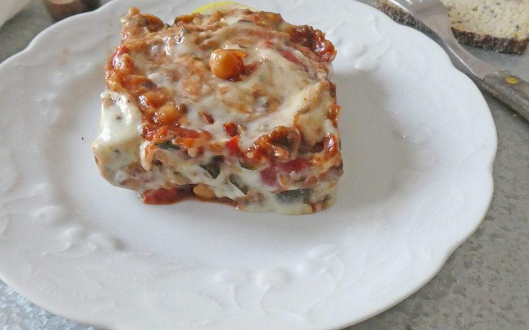 Inspiration moussaka, 100% végé…( Léger, vegan, riche en légumes,sans céréales)