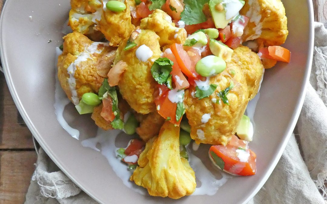 Chou-fleur façon tandoori  ( Vegan, sans céréales )