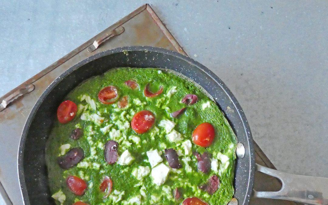 Omelette verte à la Grecque ( Sans céréales )