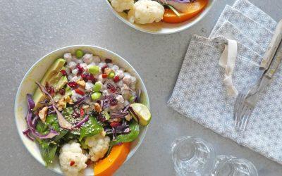 Bouddha bowl, Froid/chaud ( Vegan, sans céréales )