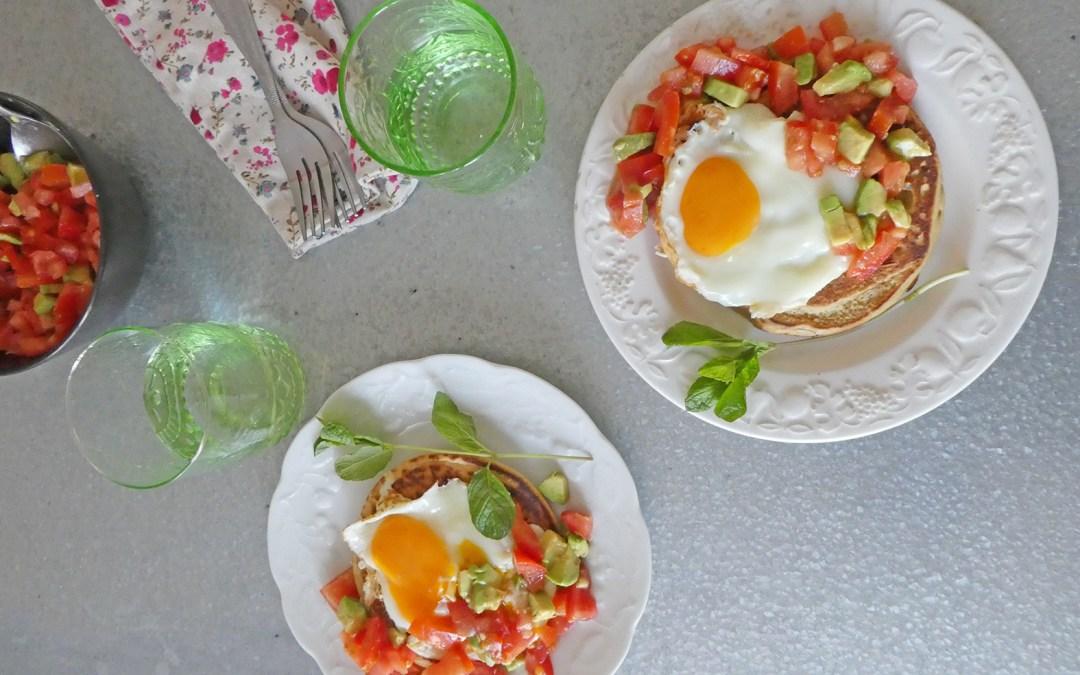 Pancake version salée  ( Vegan, sans gluten ) + idée repas végé