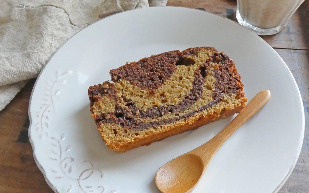 Gâteau marbré au chocolat (  Moins de sucre, moins de gras, moins de gluten, pas d'oeufs, vegan )