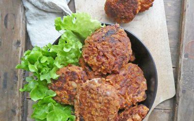 Croquettes végétales aux haricots rouges et flocons de riz ( Vegan, sans gluten )