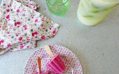 Sorbet framboises et zestes de citron vert, aux yaourts de soja