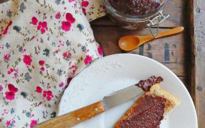 Tartinade pommes chocolat noisettes  ( Sans sucre ni huile ajoutée, vegan )