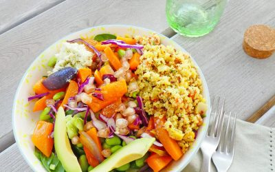 Salade d'automne façon bouddha bowl  ( Vegan, sans gluten, léger )