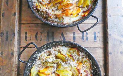 Gratin végétal de pommes de terre et butternut  ( Vegan, sans gluten, léger )