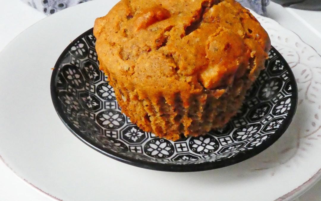 Muffin à la pomme, parfumé à la cannelle ( Sans gluten, sans oeuf )