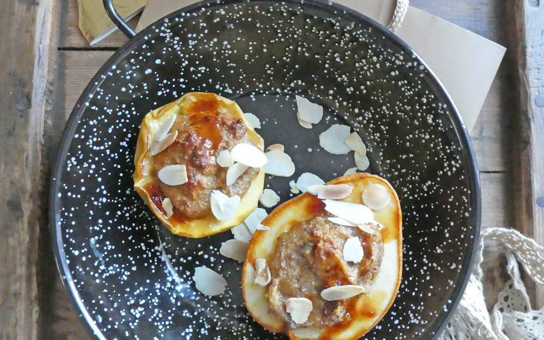 Pomme/poire des rois …ou fruits cuits farcis à la frangipane vegan