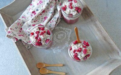 Porridge avoine et chia #4 au lait d'amande ( Vegan, peu sucré, sans soja )