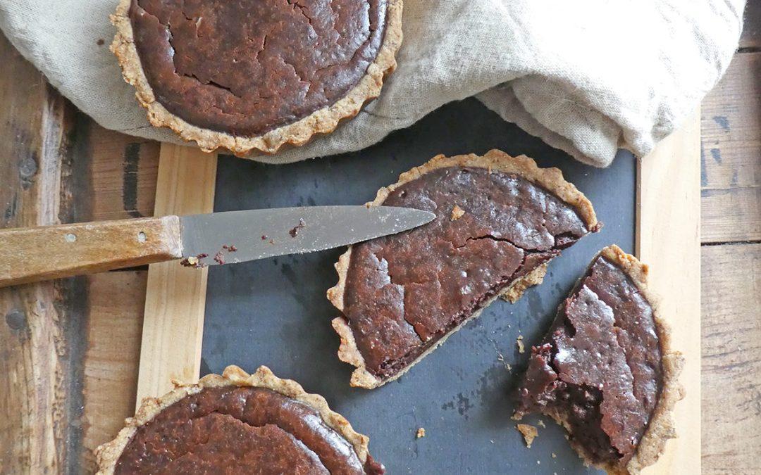 Tartelettes au chocolat soufflé ( Sans gluten, allégées en sucre )