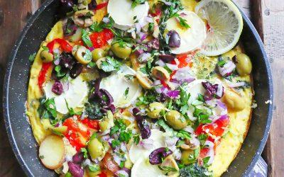 Frittata et salsa d'olives