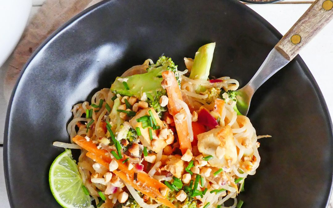 Shirataki façon pad thaï ( Low carb, sans céréales, végétarien ou pas, sans gluten, léger )