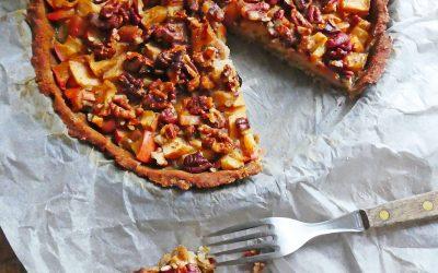 Tarte pommes et noix ( Sans gluten, allégée )