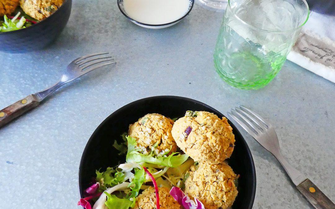 Boulettes de lentilles corail façon falafel au four ( Vegan , sans gluten, sans céréales, léger )