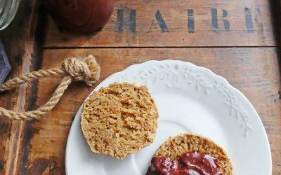 Scone tout léger à l'orge mondée et crème végétale ( Vegan, index glycémique contrôlé, sans huile, ni beurre ou margarine )