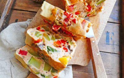 Eggs cake aux légumes d'été  ( Sans gluten, sans céréales, avec ou sans lactose )
