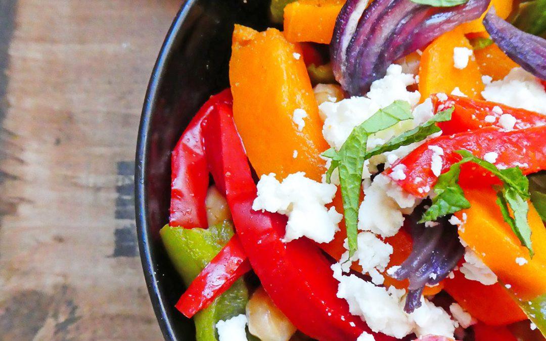 Salade complète au butternut …  ( sans céréales, léger )