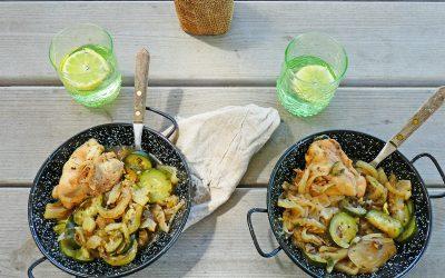 Poulet aux fenouils et courgettes ( recette légère, sans céréales, sans gluten )