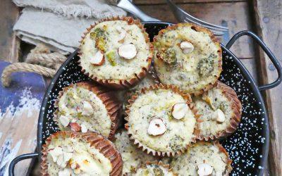 Minis flans noisettes, brocolis, Féta ( Sans céréales, sans gluten  )