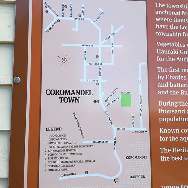 Coromandel town map