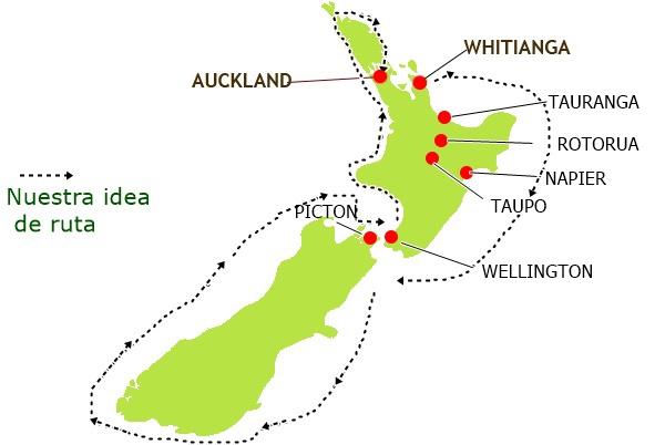 Ruta Nueva Zelanda