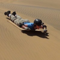 Sandboarding in Swakopmond