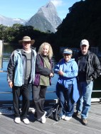 The gang just before our Milford Fjord Cruise