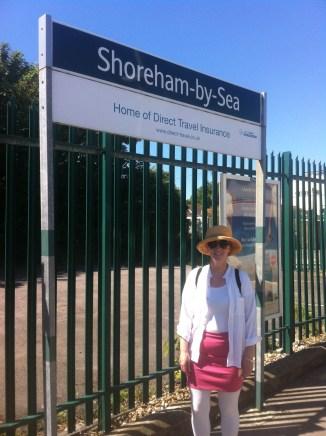 Arrival at Shoreham station