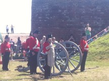 Getting ready to fire the cannon