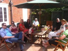 Our lovely farewell barbecue