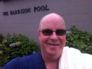 Outside the hot pool