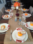 Thanksgiving dinner setting