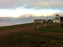 Our campground in NB with a view of the sea