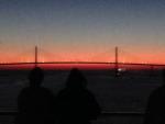 Sunset leaving Tampa