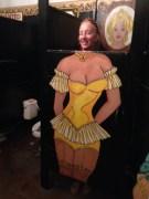The woman's toilet door