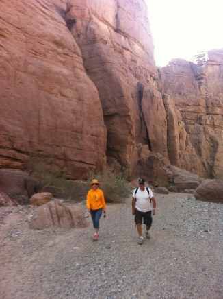 Walk along canyon floor