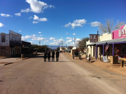 Main street of Tombstone before the gunfight