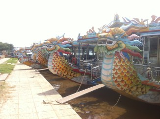 Some dragon boats