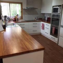 Custom Kitchen Standard Size Sink Wooden Benchtops — Photo Galleries | Kiwi Kitchens ...