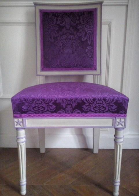 Rénovation d'une paire de chaises années 60 de style Louis XVI