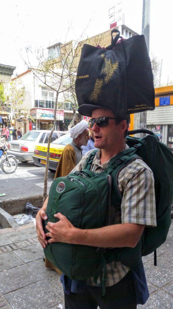 Antony on the move in busy Shiraz.